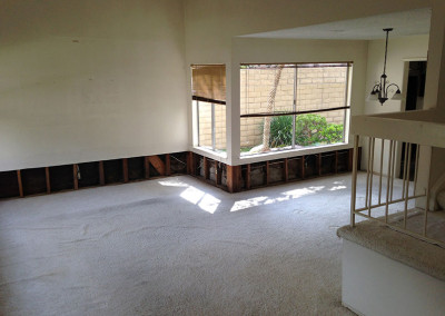Living Room Before Water Damage Restoration