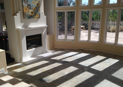 Living Room Before Water Damage Restoration