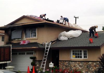 Cypress Home — Fire Damage Restoration
